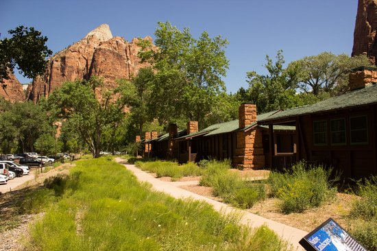 View from our room 0 picture of zion lodge zion for Cabin zion national park