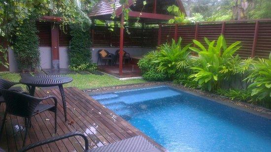Villa Pool in the rain