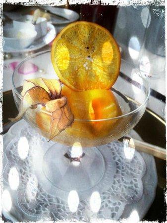 Dornröschenschloss Sababurg: Mango Sorbet mit Sekt