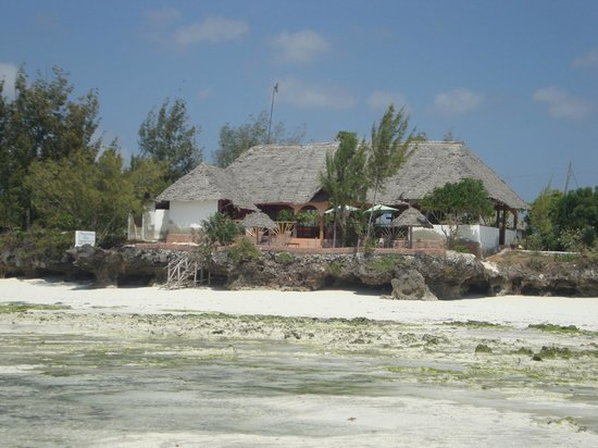 Mbuyuni Beach Village: Main restuarant / bar looking back from sea
