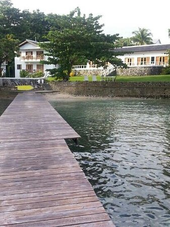 The Resort at Wilks Bay: view from t he jetty