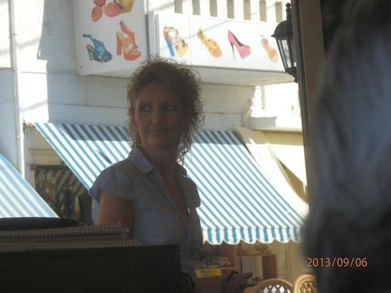 Maria's Golden Beach Tavern Restaurant : Maria hard at work