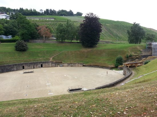 Amphitheater: Wineyards in the background