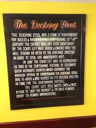 The Ducking Stool: a bit of history....