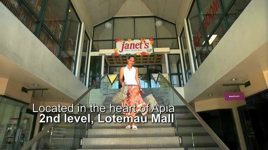 Janet's Located in the Lotemau Mall Apia