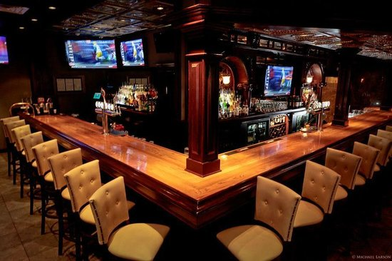 Tolento's Ice House Grille : Large 23 seat 107 year old Bar imported from Pennsylvania!