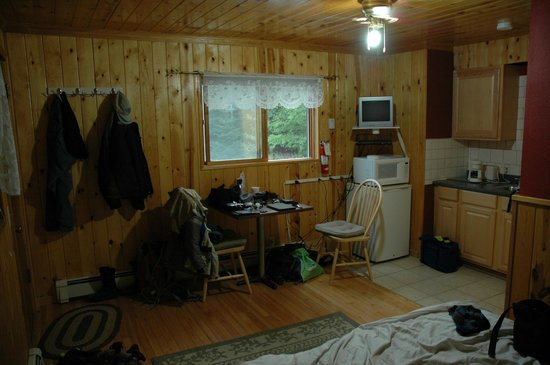 Alaska Dacha : Room littered with all of our riding gear