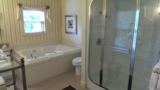 The Inn at Thorn Hill & Spa : Jacuzzi & Steam Shower