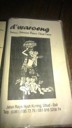 D'Waroeng: menu