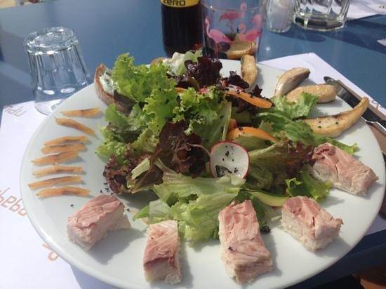 Salade de fera poisson du lac leman photo de restaurant for Salade poisson