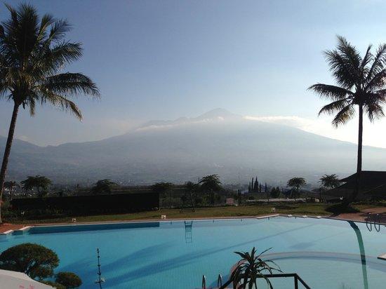 Kusuma Agrowisata Hotel: The view when we having breakfast