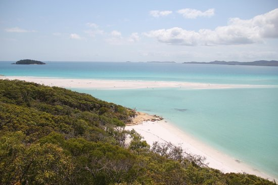 Whitehaven Beach: looking out from the lookout