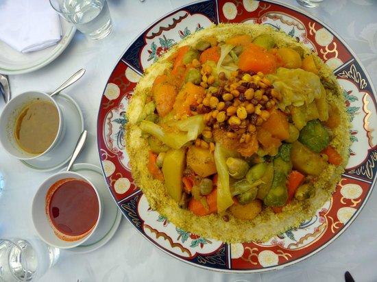 Al Fassia Aguedal: Vegetarian couscous
