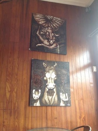 Manso Boutique Guesthouse: whimsical art.