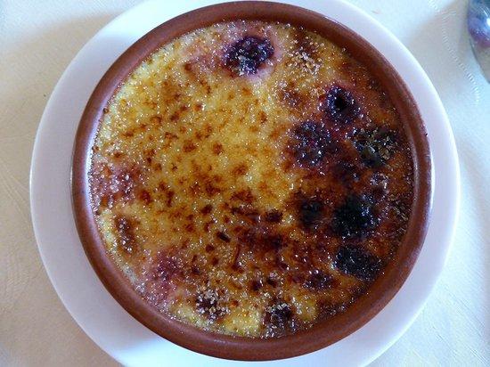 Auberge de La Chapelle : crème brulée délicieuse