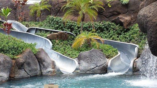 Grand Waikikian by Hilton Grand Vacations: Paradise pool slide not working