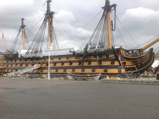 Portsmouth, UK: HMS VIctory from the outside