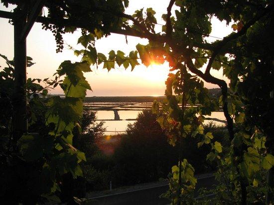 Casa del Sal : Vista do pátio ao pôr do sol.