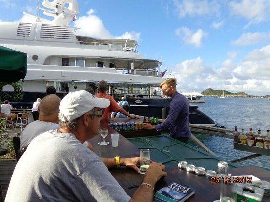 Sint Maarten Yacht Club Bar & Restaurant: Outdoor Bar