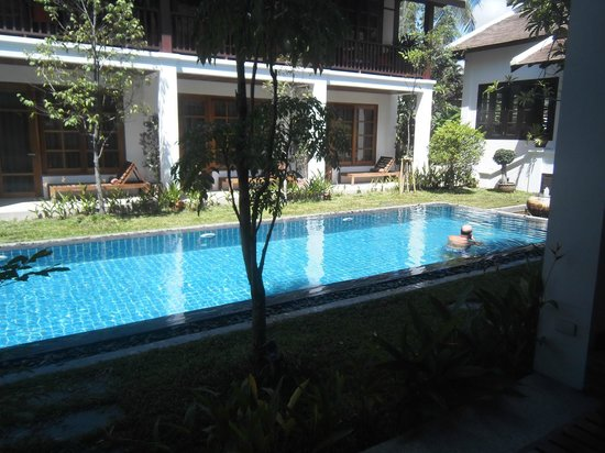 View Of The Swimming Pool From My Room Picture Of Le Sen Boutique Hotel Luang Prabang