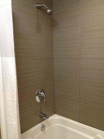 Hotel Ambassadeur Quebec : Shower and bathtub
