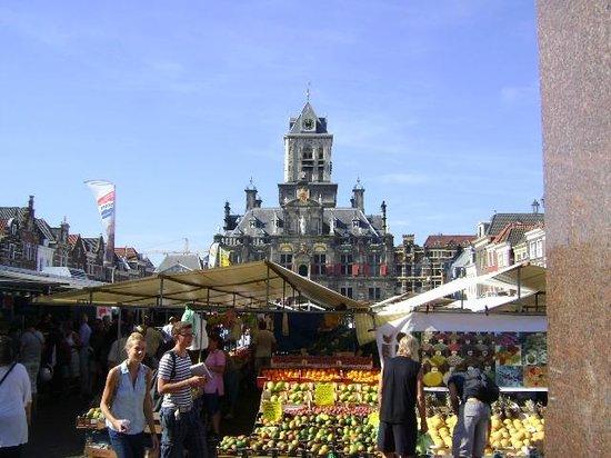 Plaza Markt, Delft, Holanda.