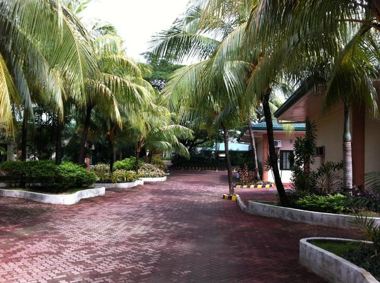 Leisure Coast Resort: The nicely kept walkway around the hotel grounds