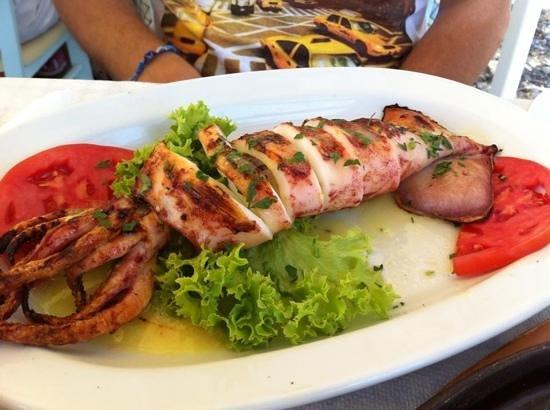 Sea Side Restaurant: calamaro alla griglia