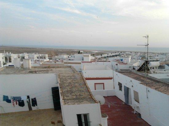 Hostal Malia: Vistas desde la terraza azotea comunitaria