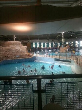 Butlins: part of the swimming baths......