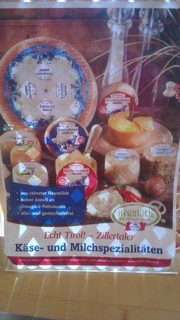 Hotel Gletscher & Spa Neuhintertux: Frühstück mit tollen Heu-Milch Produkten