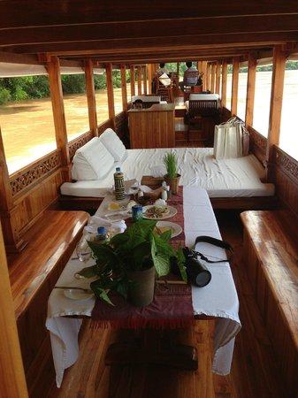 Belmond La Residence Phou Vao: The Hotek boat