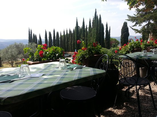 La Bottega di Volpaia : il tavolo sulla terrazza