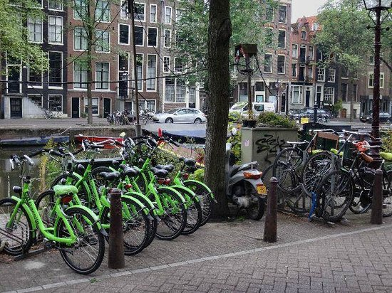 Hampshire Hotel - Prinsengracht Amsterdam: Renting Bikes opposite Hotel