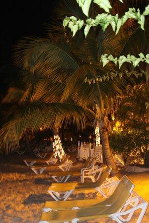 Coco Reef Resort & Spa Tobago: Beach at night