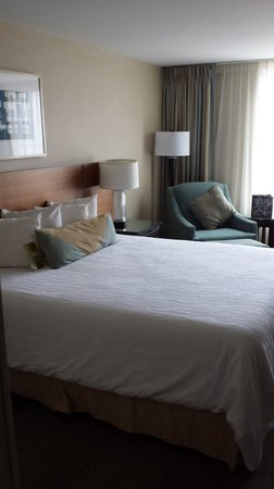 Hilton Garden Inn Baltimore Inner Harbor : The King Bed at Hilton Graden Inn (HGI)