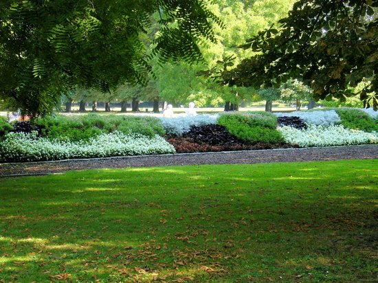 Mannheim, Duitsland: Teileindruck vom Herzogenriedpark