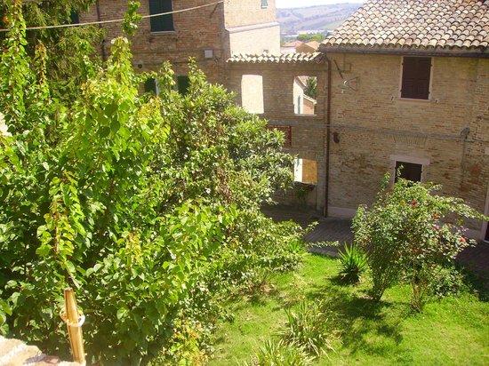 Trattoria Armoguasto: terrazza vista casa di Scuretto