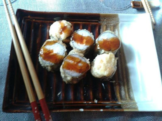 Fuji: con salmone fritto