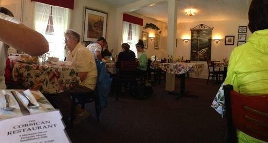 The Corsican Restaurant: warm, friendly atmosphere