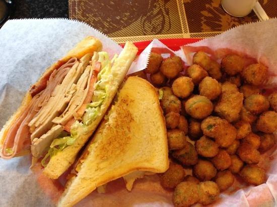 The Fried Turkey Sandwich Shop: the downtown club with fried okra
