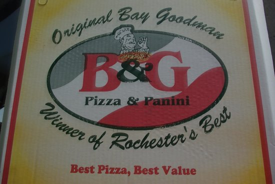 Bay Goodman Pizza: a picture of my Pizza box