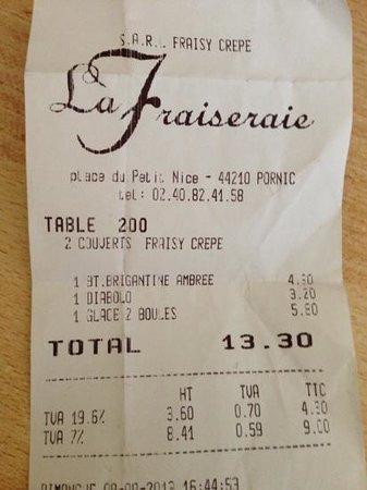 La Fraiseraie : des glaces très chères !
