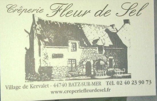Crêperies Fleur de Sel: carte!