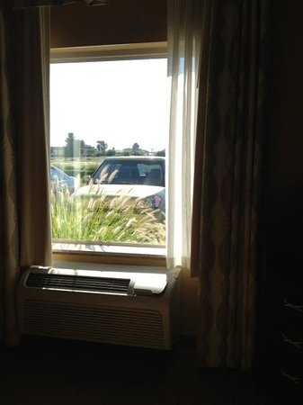 Hampton Inn Ellensburg: view from 1st floor guest room.