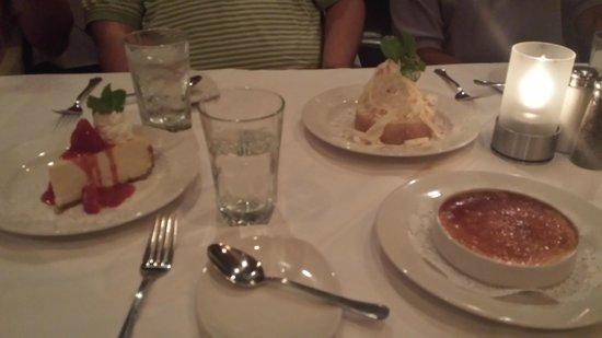 Sullivan's Steakhouse: 3 of the 6 desserts :p