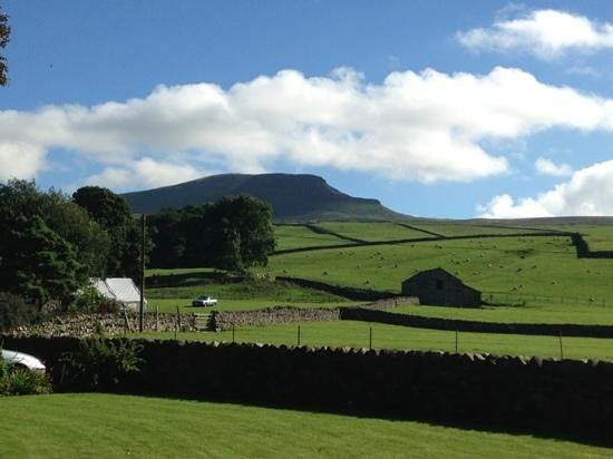Broad Croft House: view from the guest house of Pen-y-Ghent
