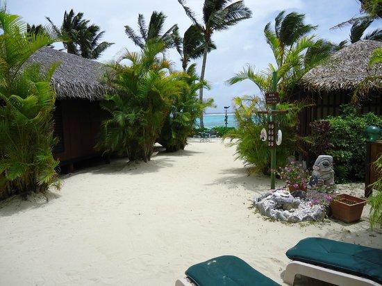 Rarotonga Beach Bungalows: View from the porch