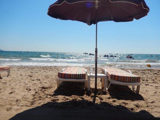 Le Mas d'Estel : Vue de la plage