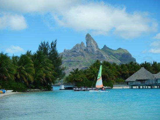 The St. Regis Bora Bora Resort: The island from the St. Regis beach